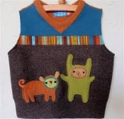 Examples of home made wool vests